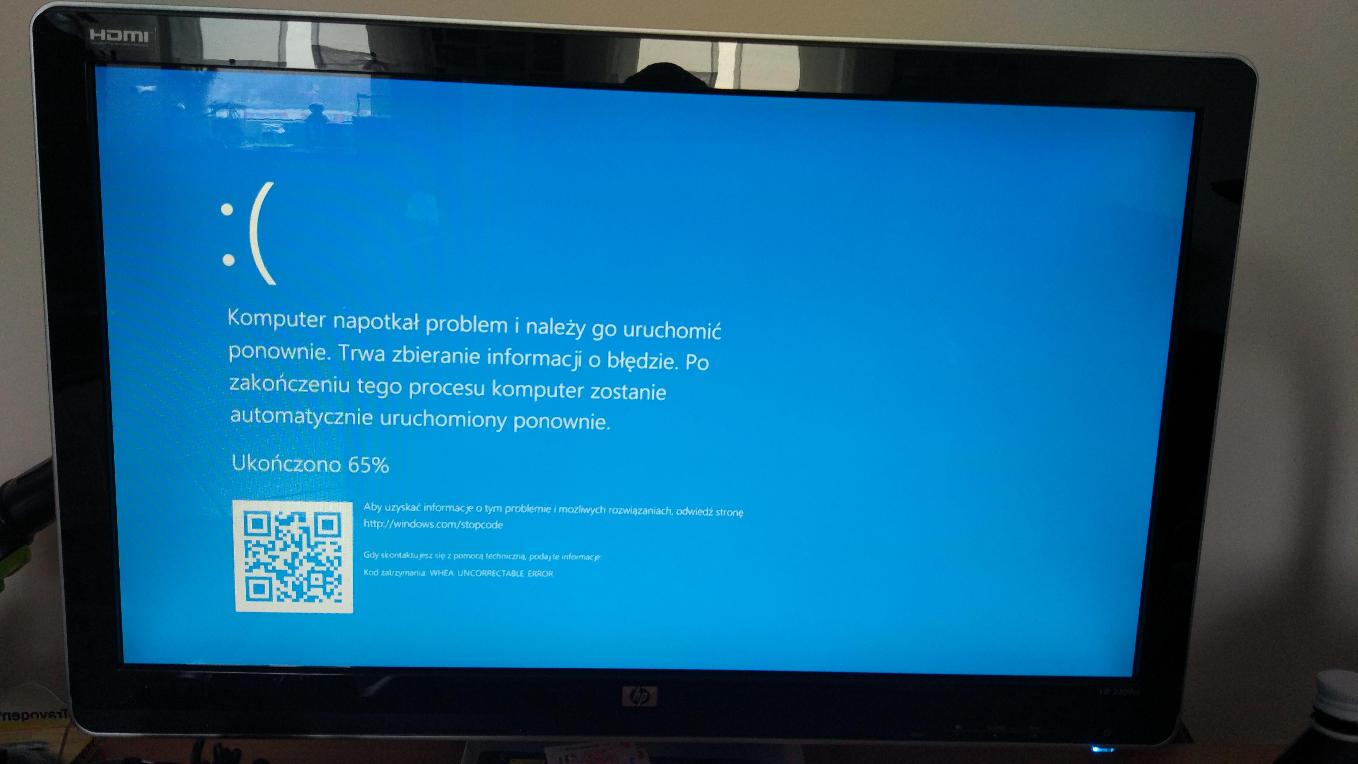 whea uncorrectable error windows 10 msi